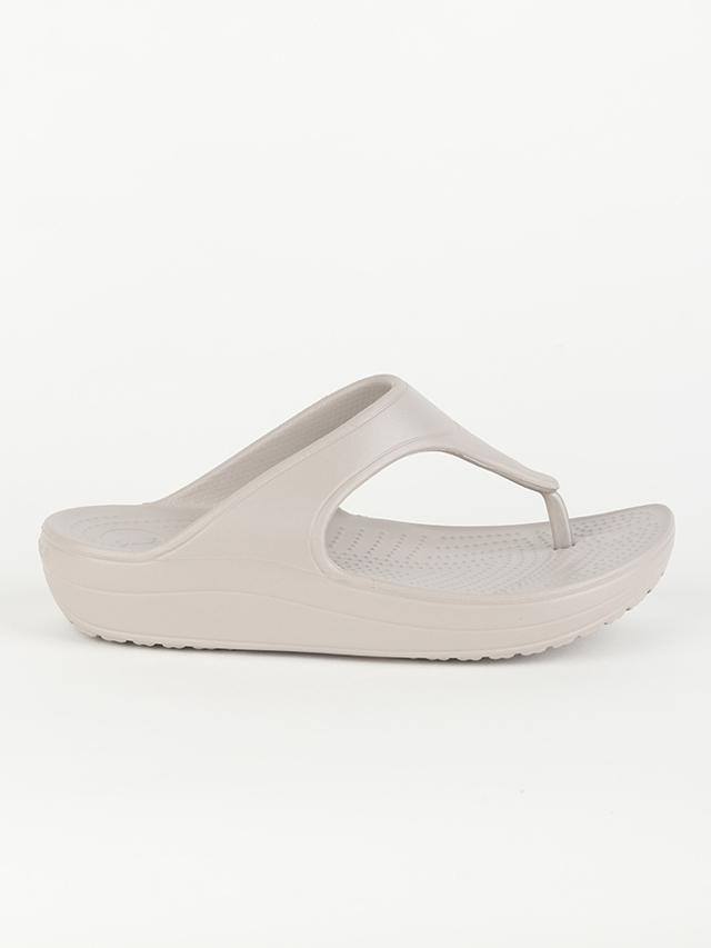 Žabky Crocs Women's Sloane Platform Flip Šedá
