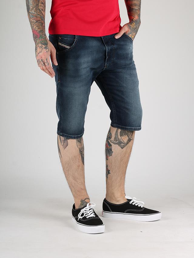 Kraťasy Diesel KROSHORT-NE CALZONCINI Jogg Jeans Modrá