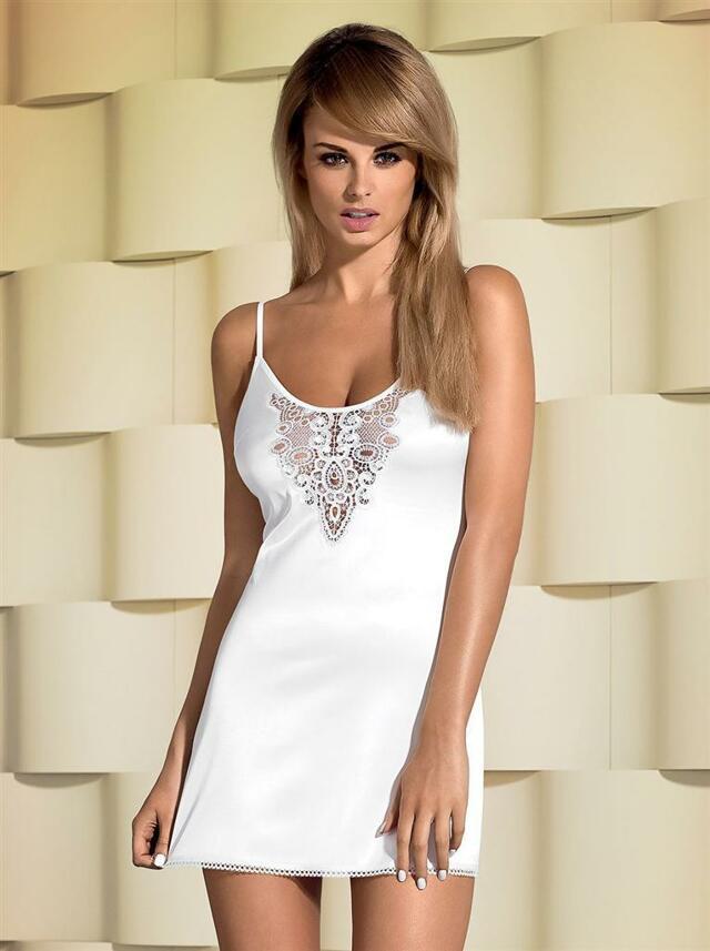 Košilka Lelia chemise - Obsessive - S/M - bílá