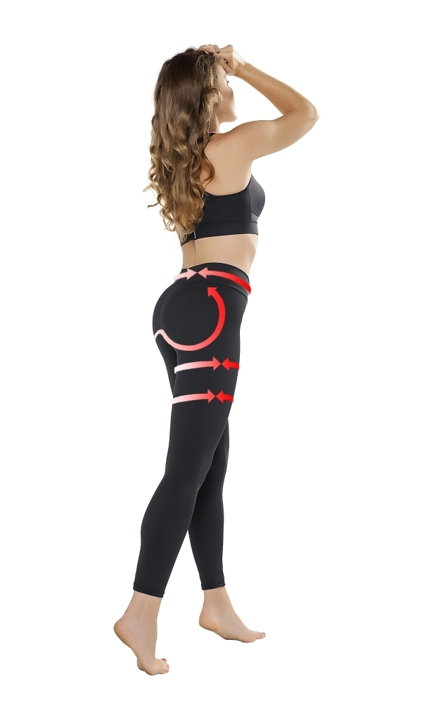 Legíny Gwinner Push-up Leggings Anti Cellulite - L - černá