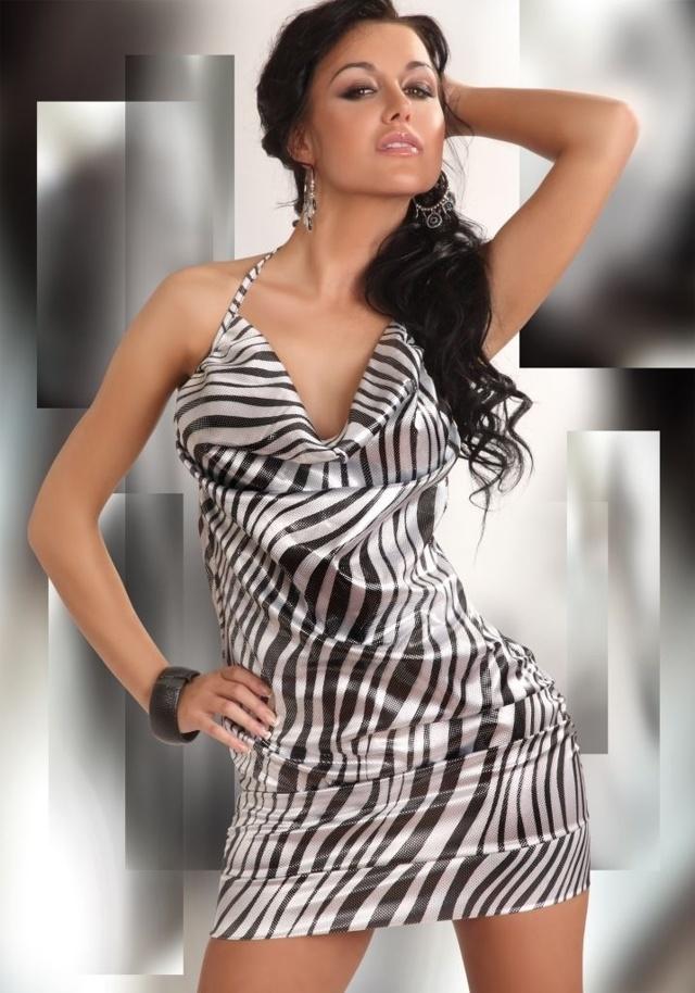 Košilka Eliora-LivCo Corsetti - M - černo-bílá