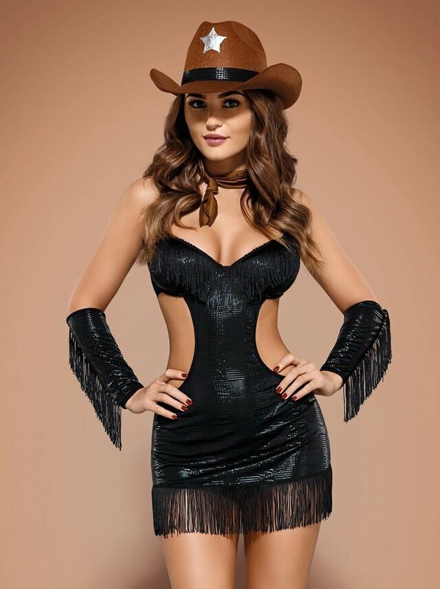 Sexy kostým Sheriffia - Obsessive - L/XL - černá