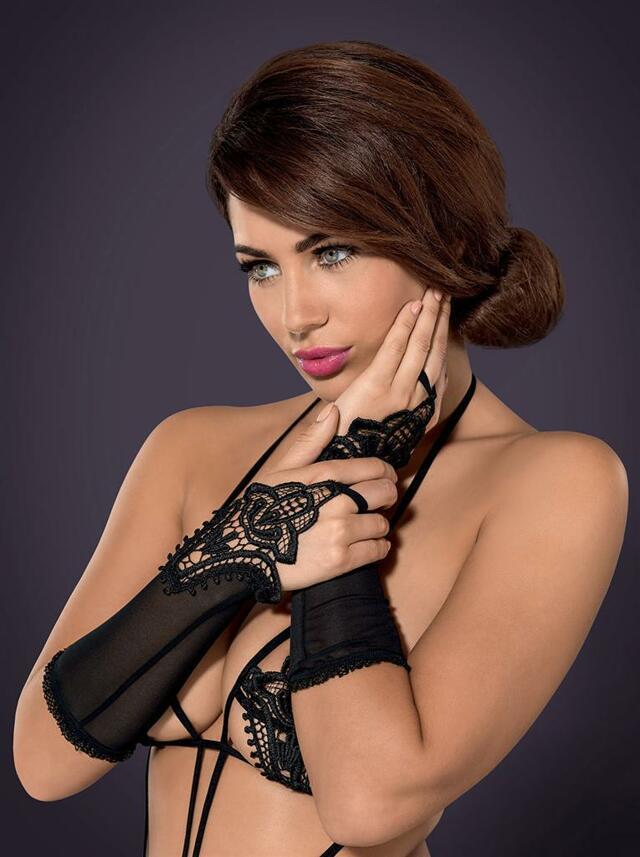 Rukavičky Luiza mittens - Obsessive - uni - černá