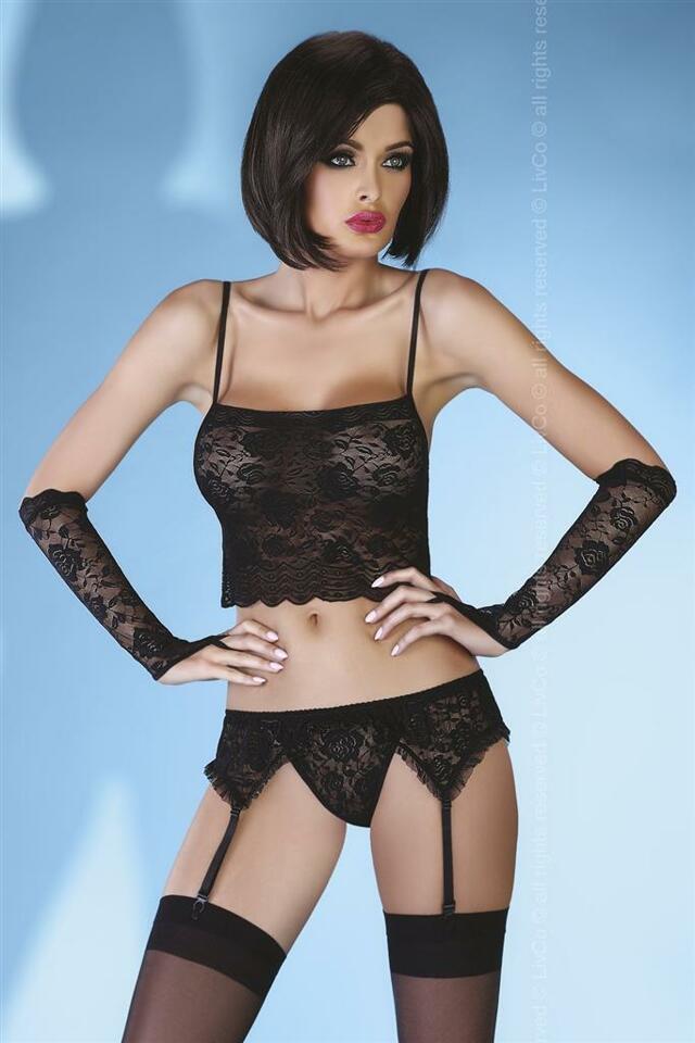 Komplet Modesta - LivCo Corsetti - L XL - černá 3686273aed
