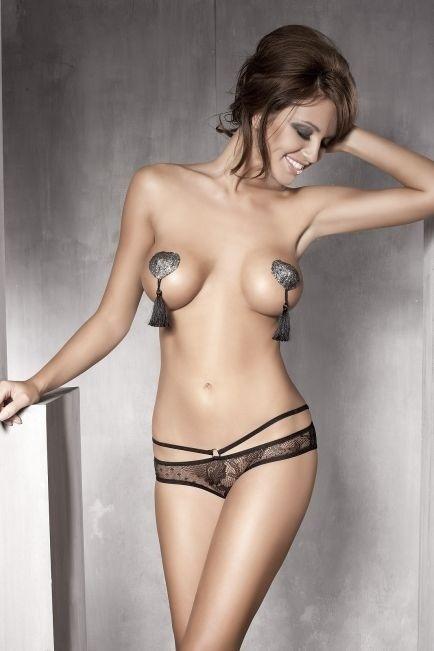 Kalhotky Anais PERMISSION open panty - L - černá