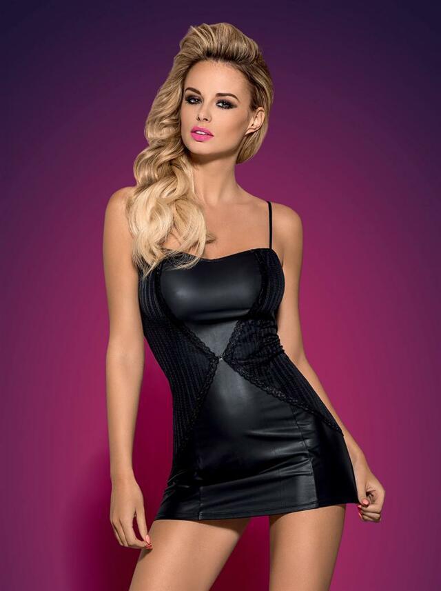 Šaty Stingy XXL - Obsessive - XXL - černá