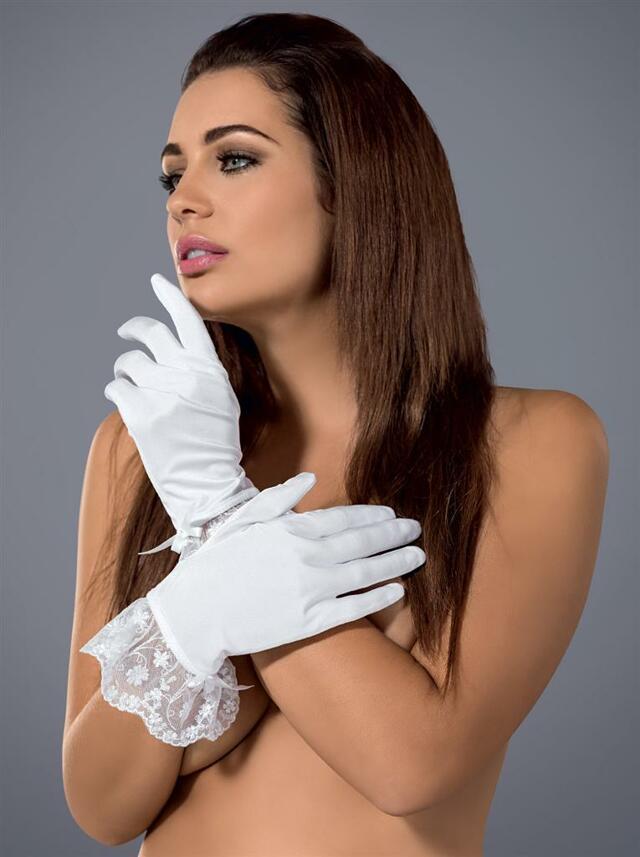 Rukavičky Etheria gloves - Obsessive - uni - bílá