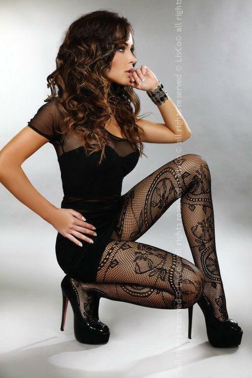 Punčochy Ahava - Livia Corsetti - S/L - černá