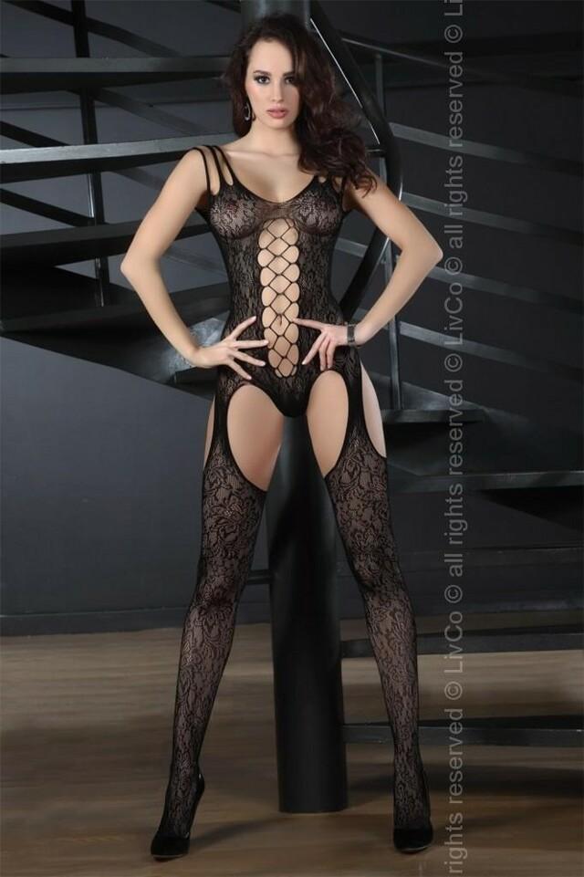 Body Turquoise - LivCo Corsetti - S/L - černá