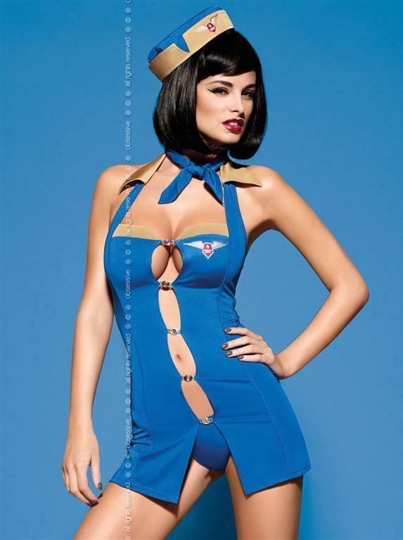 Sexy kostým Air Hostess - Obsessive - L/XL - dle obrázku