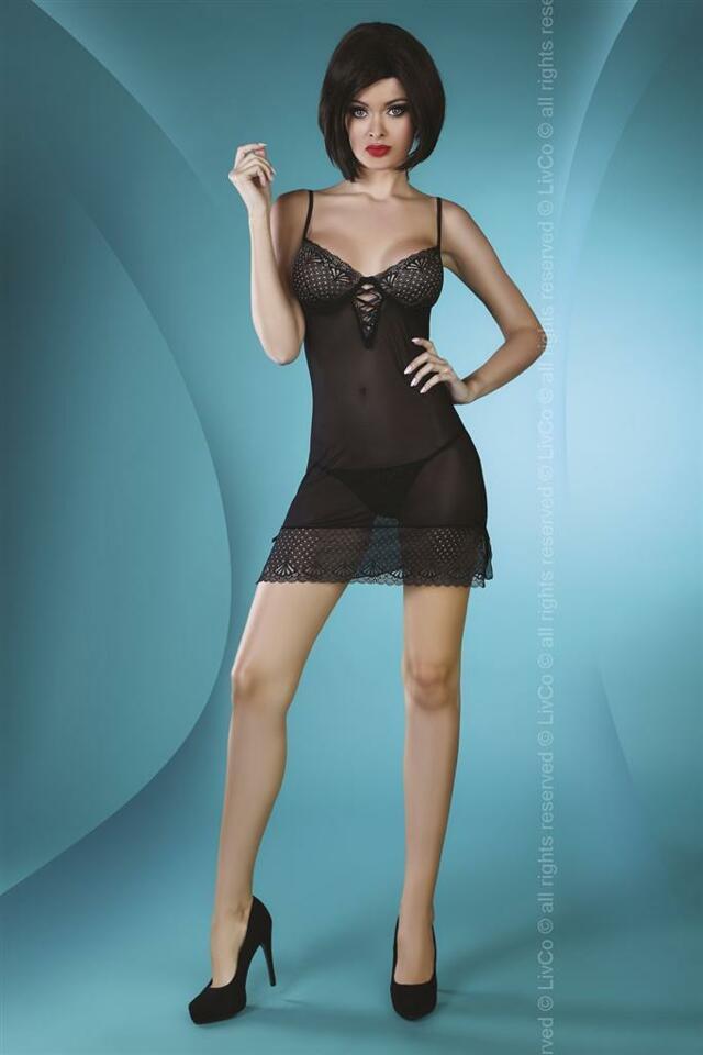 Košilka Florizel - LivCo Corsetti - S/M - černá