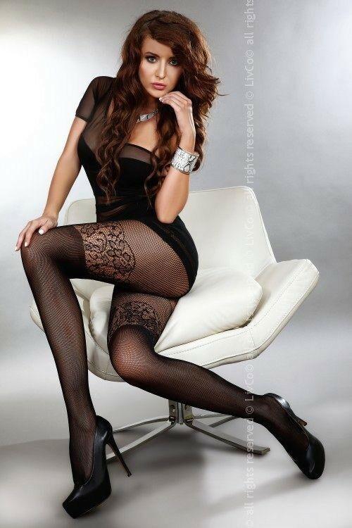 Punčochy Batya - Livia Corsetti - S/L - černá