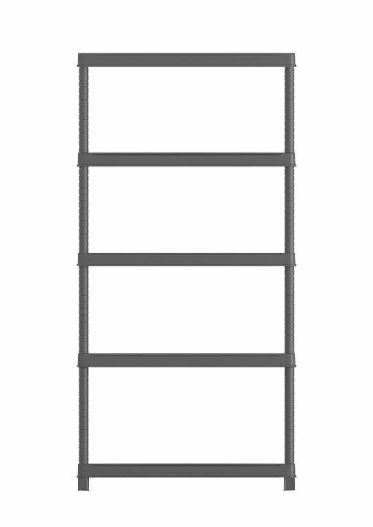 Plastový otevřený regál PLUS 80/5 - 187 x 80 x 40 cm