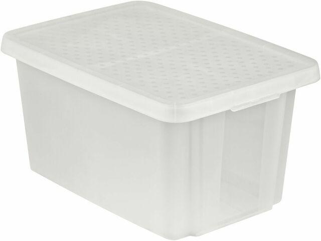 Úložný box s víkem 45L - transparentní CURVER