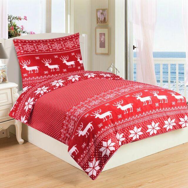 Mikroplyšové ložní prádlo SOB RED