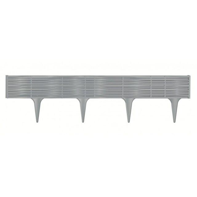 Travní lem String šedá, 390 cm