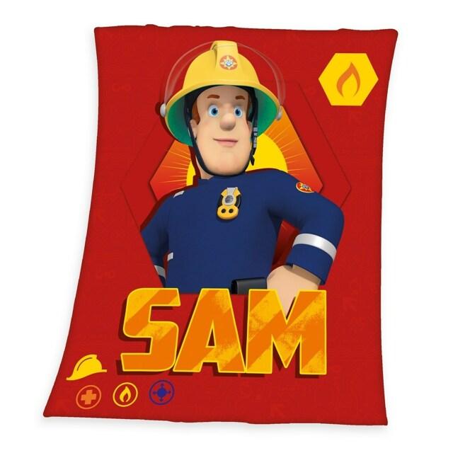 Herding Dětská deka Požárník Sam, 130 x 160 cm