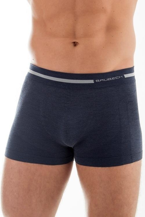 Pánské boxerky Wool BX 10430 C.Jeans - S - džínová