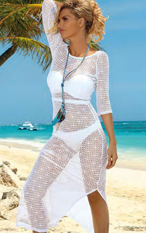 Dámské plážové šaty D49 Self - XL/XXL - černá