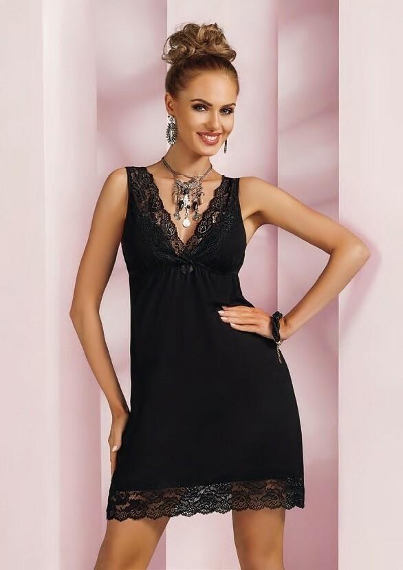 Noční košilka Donna Nadia - XL - černá