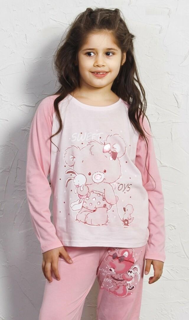 Dětské pyžamo dlouhé Koala s mašlí