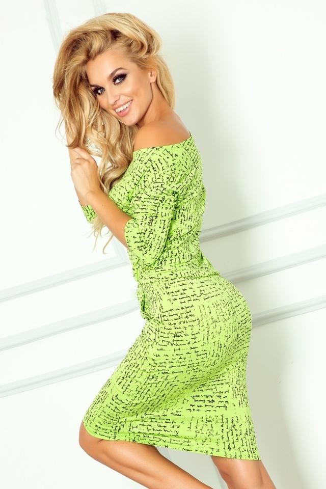 Zelené sportovní šaty s nápisy 13-35