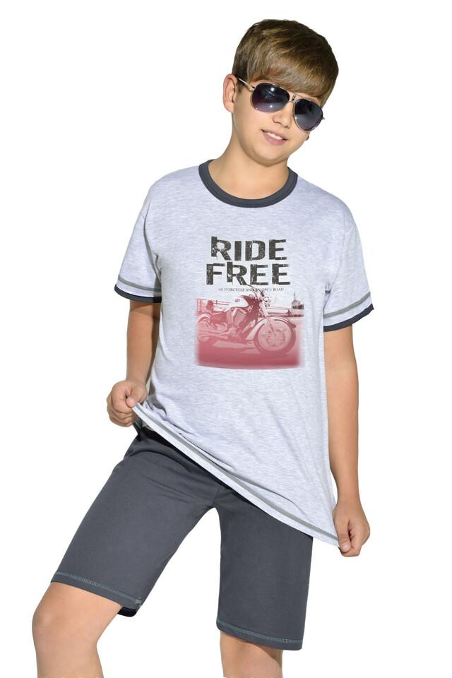 Bavlněné chlapecké pyžamo Free ride - 146