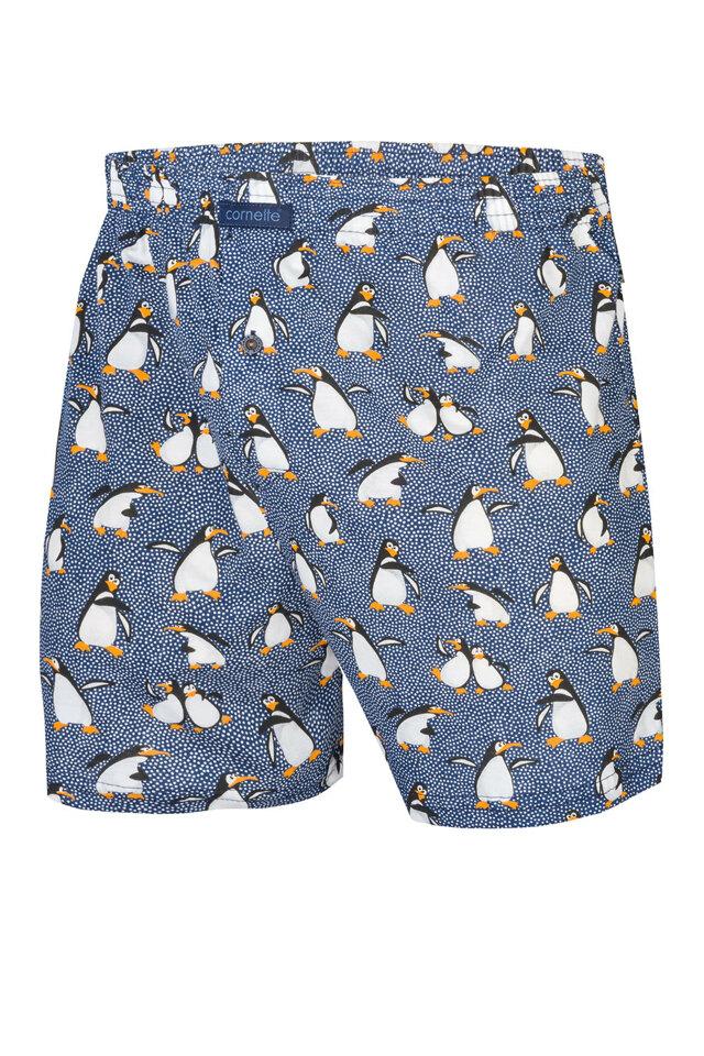 Pánské boxerky Cornette Merry Christmas Penguins 2 016/08 - S - jeansová
