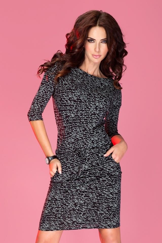 Černé sportovní šaty s nápisy 13-9 - S 29c38a6f56