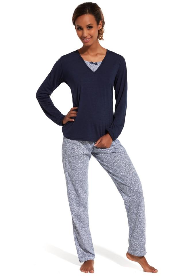 Dámské pyžamo 168/138 Erin - S - tmavě modrá