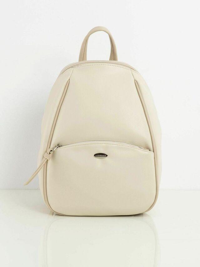 Světle béžový batoh z ekologické kůže - jedna velikost