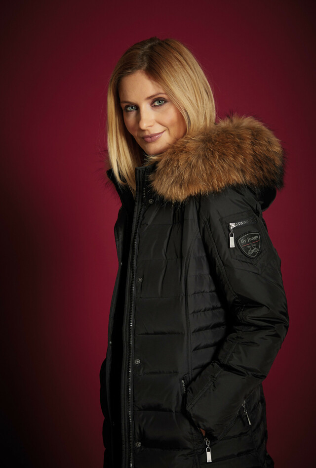 Dámský péřový kabát 2864-65 Junge - 48 - černá