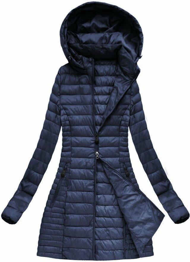 Tmavě modrá dámská jarní bunda s kapucí (XB7127X) - S (36) - tmavěmodrá