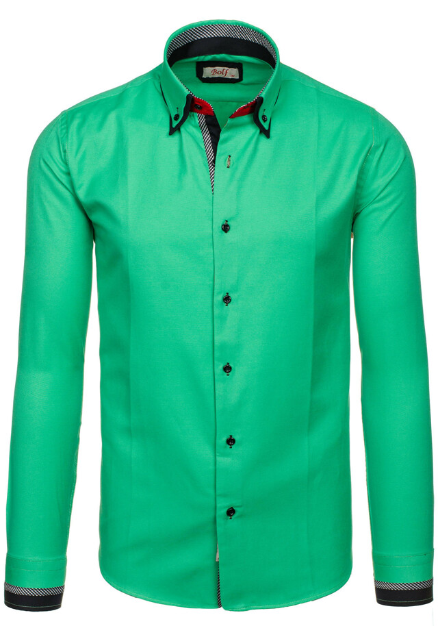Pánská košile 120-2CO - Bolf - S - zelená
