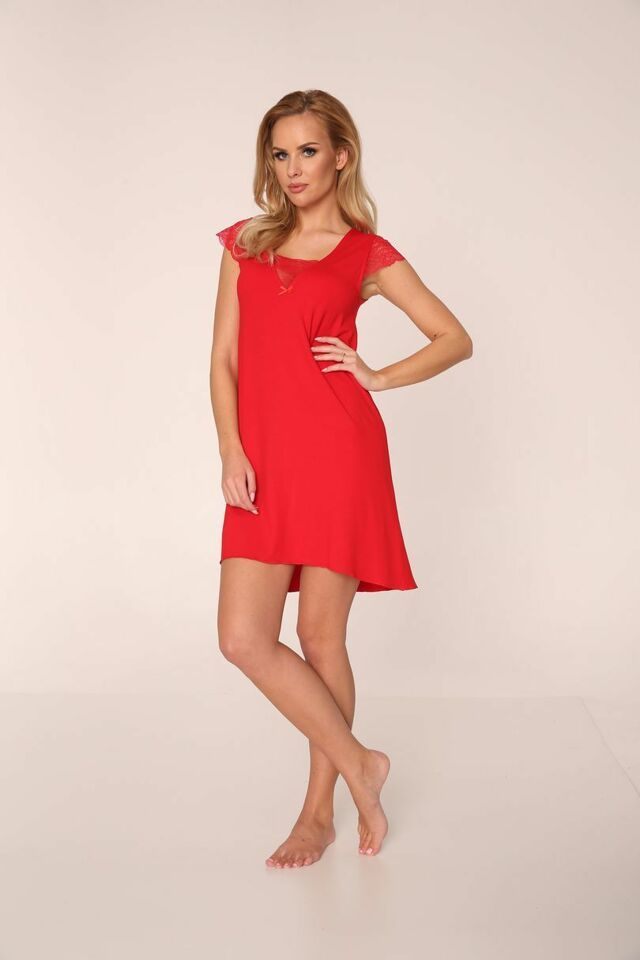 Noční košile Fanny - De Lafense 340 - červená - L