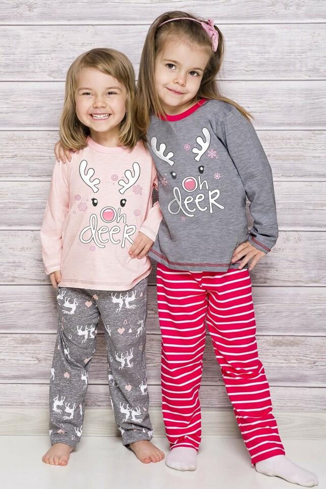 Dívčí pyžamo 1167 Oda 02 grey