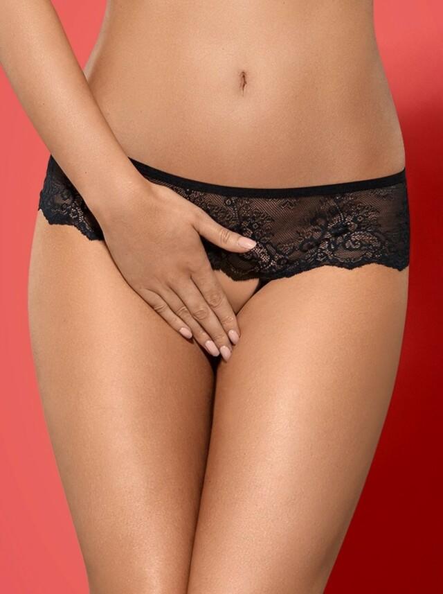 Kalhotky Merossa panties otevřené - Obsessive - L/XL - černá