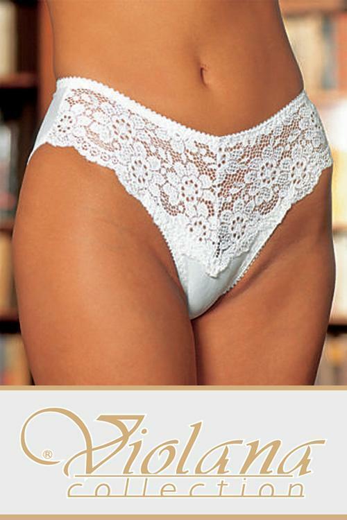 Kalhotky Violana Linda - figi - XL - bílá