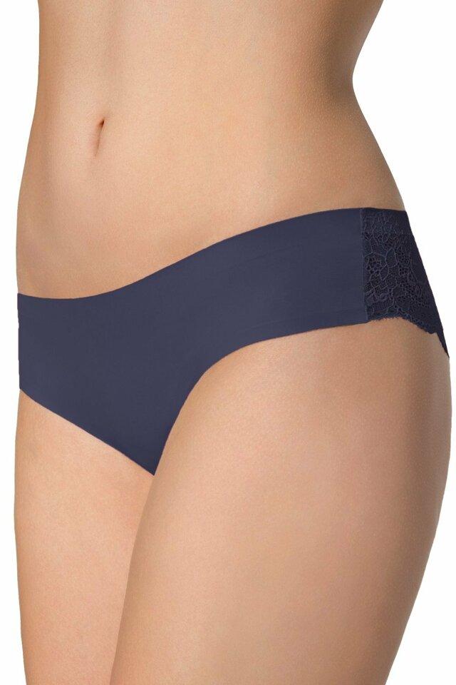 Dámské kalhotky Tanga blue - L - tmavě modrá