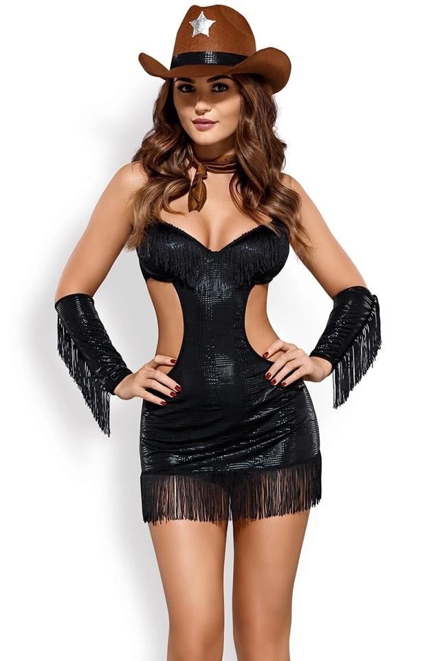 Dámský kostým Sheriffia - L/XL - černá