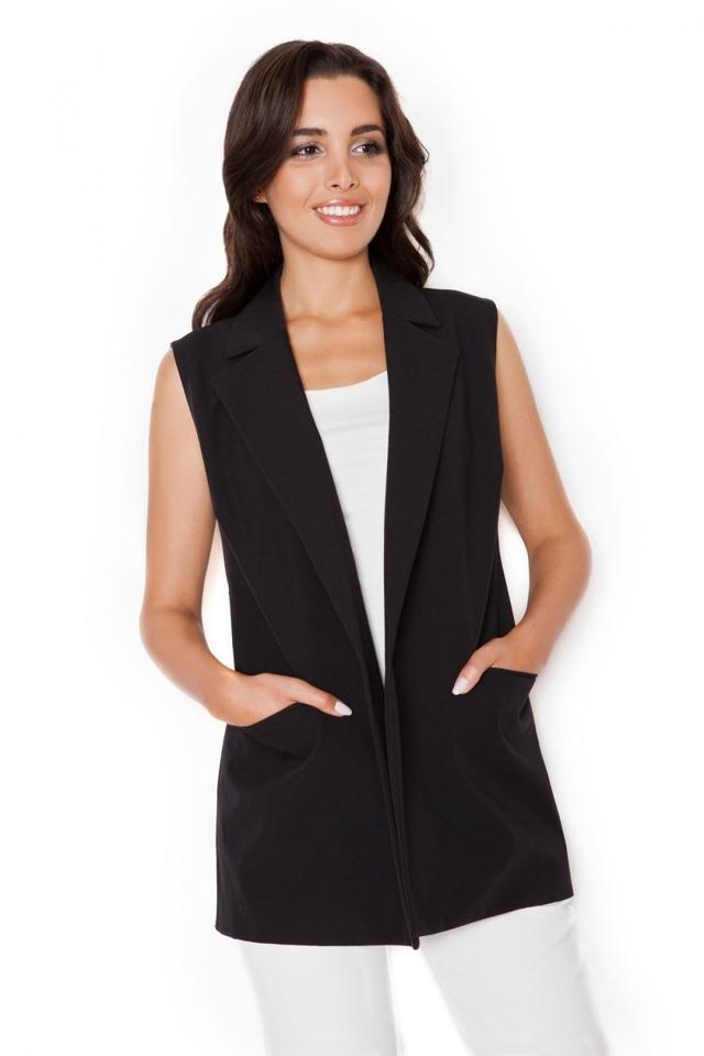 Dámská vesta K285 black - M - černá