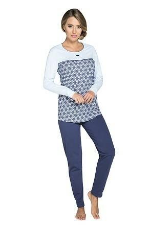 Dámské pyžamo Zanna modré - XL