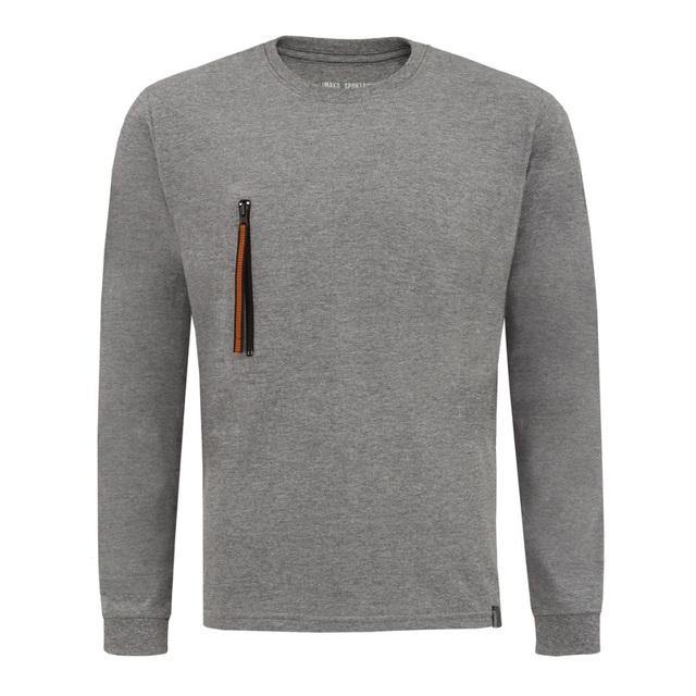 Pánské tričko s dlouhým rukávem AGAPIT - bílá - L 406adaa3c3