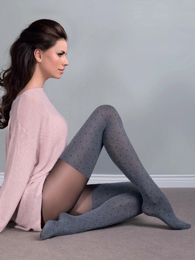 Punčochové kalhoty Gabriella Fabia 60 den 408 5-XL