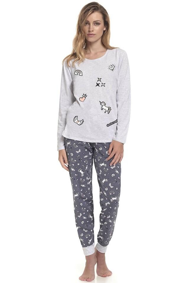 Dámské pyžamo Dn-nightwear PM.9346 - M - šedá