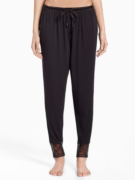 Dámské kalhoty na spaní QS6125E-001 černá - Calvin Klein - M - černá