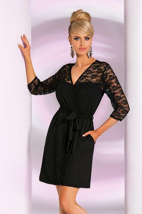 Dámský župan Donna Linda SZ - XL - černá