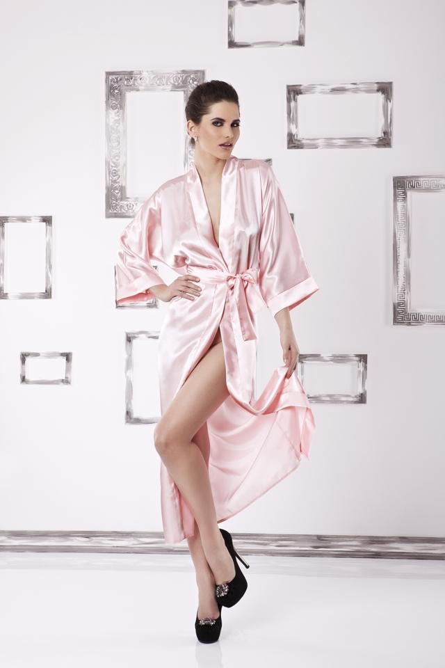 Dámský župan 130 pink - XL - růžová