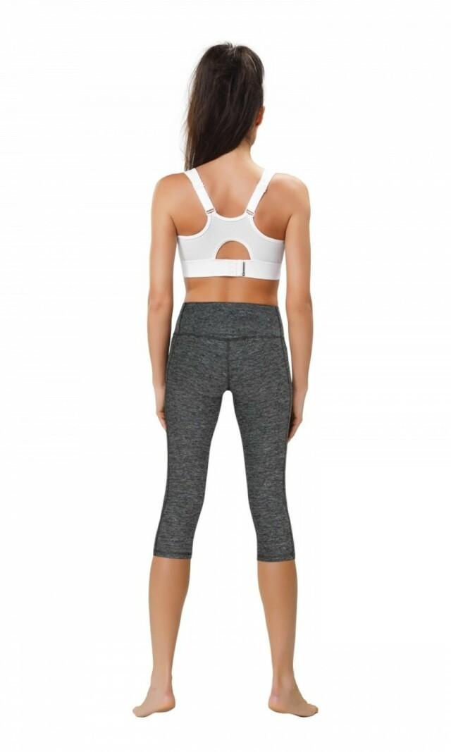 Fitness legíny Slimming capri II - L - melanž