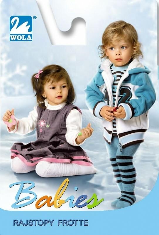Punčochové kalhoty Wola Babies Froté Vnější - 62-74 - vzorovaná-dívka